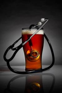 Beer and stethoscope