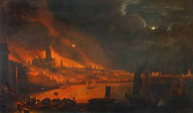 Fire of London Dutch School c1666 Society of Antiquaries
