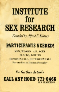 L0076457 Poster for Institute for Sex Research - P