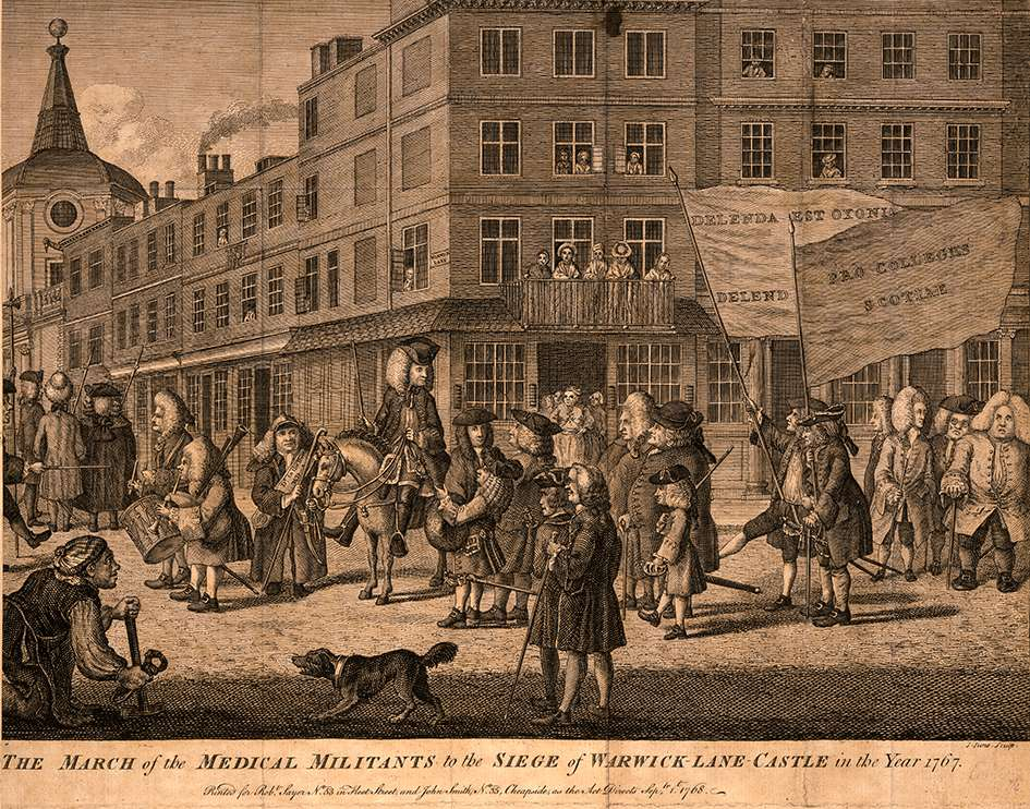 March of the medical militants, 1767