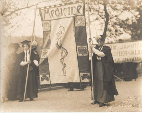 National Union of Women's Suffrage Societies Suffrage procession to the Royal Albert Hall on 13 June 1908 (c) The Women's Library at the LSE