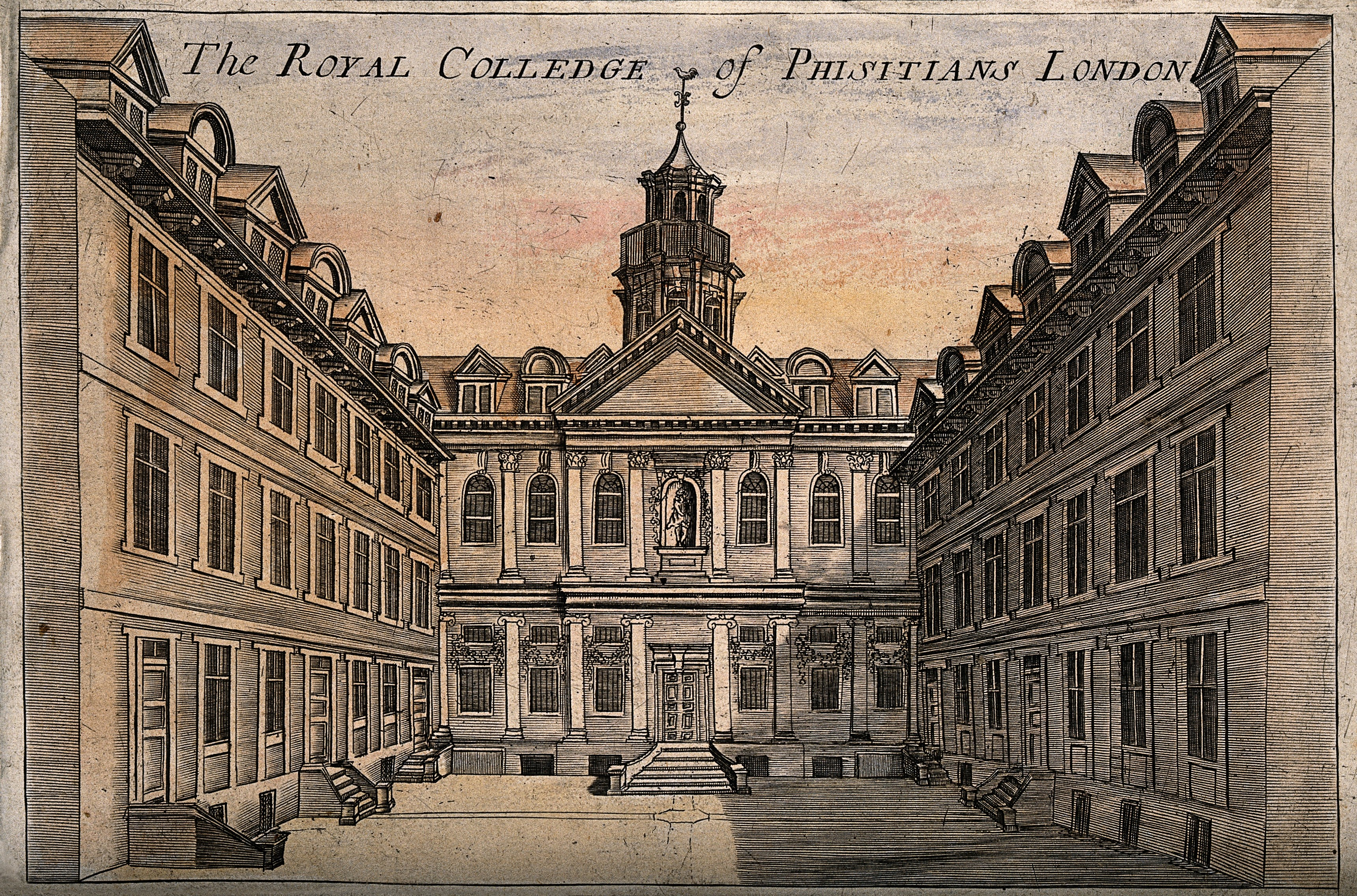Third home of the Royal College of Physicians c 1800