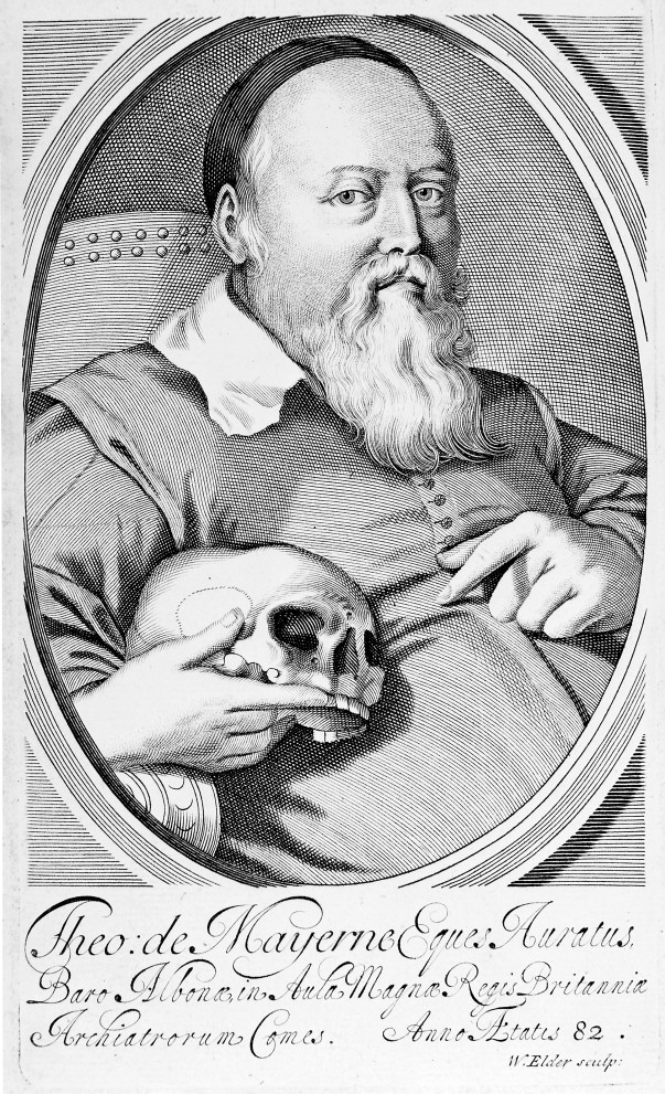 M0018576 Sir Theodore Turquet de Mayerne. Line engraving by W. Elder.