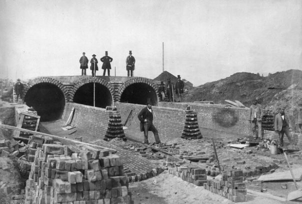 London sewage system under construction c1860 (c) universal open access